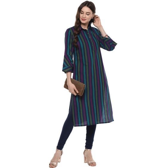 vertical stripes, ethnic wear