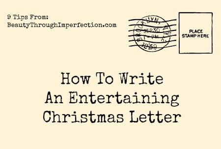 Family Christmas Letter Making Them