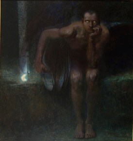 Franz von Stuck (Tettenweis, 1863 – Monaco di Baviera, 1928) Lucifero 1891 olio su tela, 161 x 152 cm Sofia, National Gallery