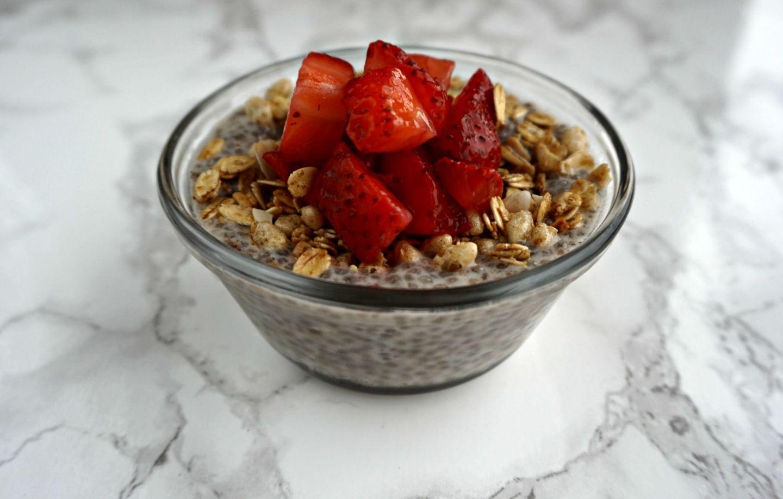 Quick & Easy Breakfast   Strawberry Chia Pudding