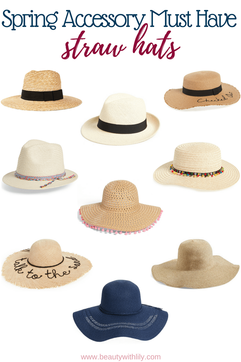 Must Have Spring Accessories // Spring Essentials // Spring Fashion // Summer Fashion // Straw Hats | Beauty With Lily