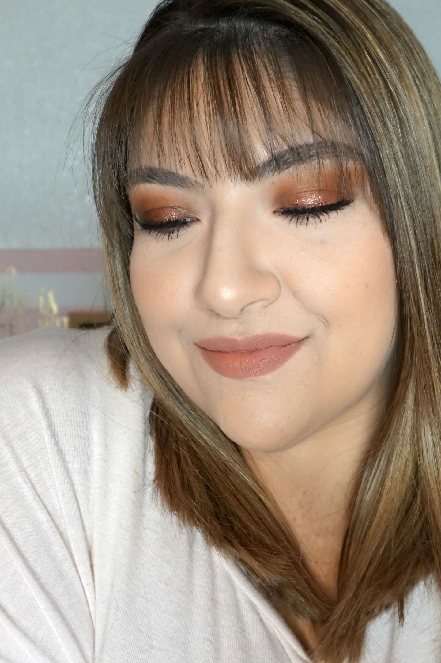 Copper Makeup Look // Halo Eyeshadow // Halo Eye Look // Easy Makeup | Beauty With Lily