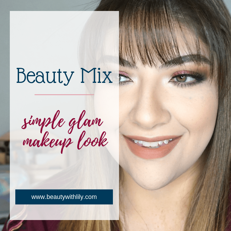 Easy Glam Makeup Look // Simple Glam Makeup // Easy Makeup Look // Thanksgiving Makeup Look // Holiday Makeup // Fall Makeup Look | Beauty With Lily