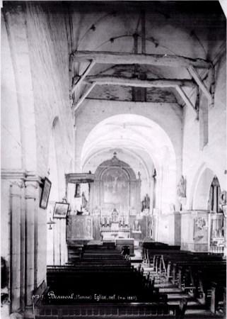 Intérieur de l'ancienne église