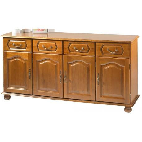 meuble enfilade chene 4 portes 4 tiroirs