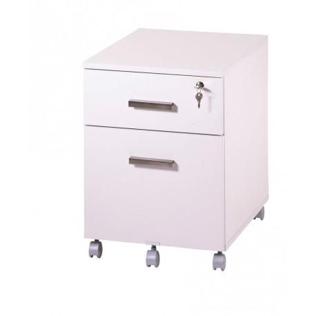 caisson de bureau 2 tiroirs ineo blanc avec plumier beaux meubles pas chers