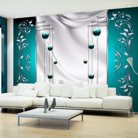 Papier Peint Turquoise Spectacle Beaux Meubles Pas Chers