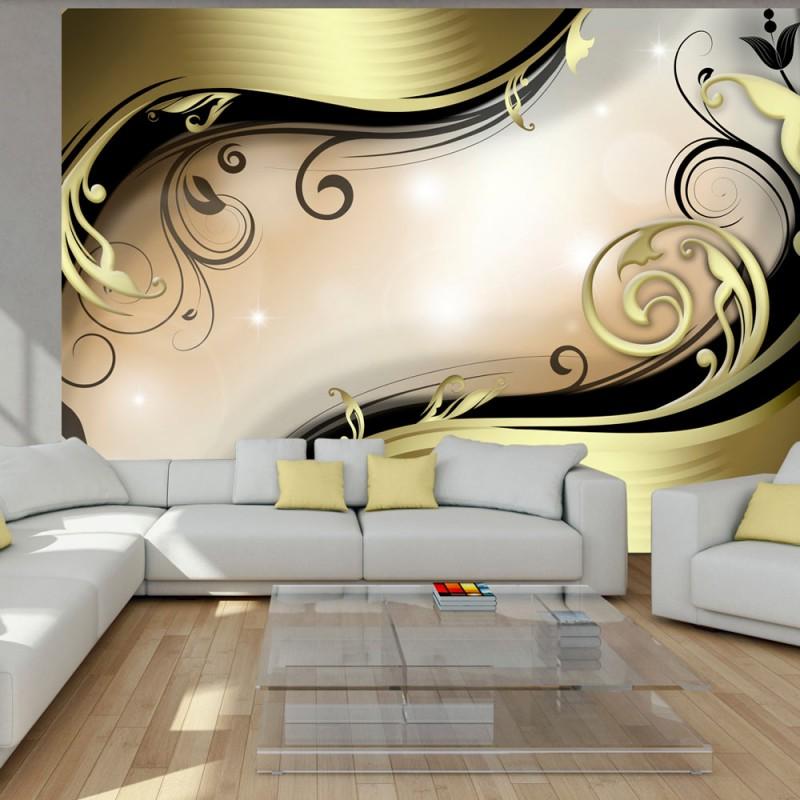 Papier Peint Wavy Gold Beaux Meubles Pas Chers