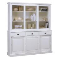 vaisselier blanc 6 portes coulissantes vaisselier blanc 6 portes coulissantes
