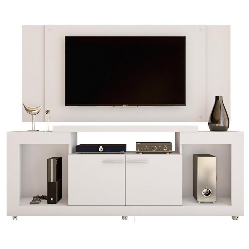 meuble tv mural 55 pouces blanc beaux