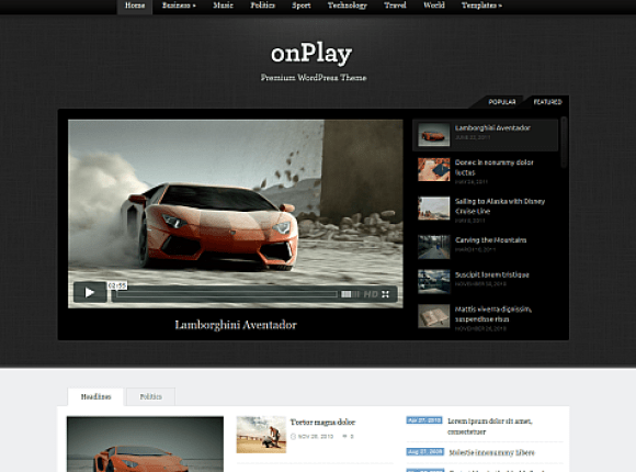 onplay-theme-wordpress-premium