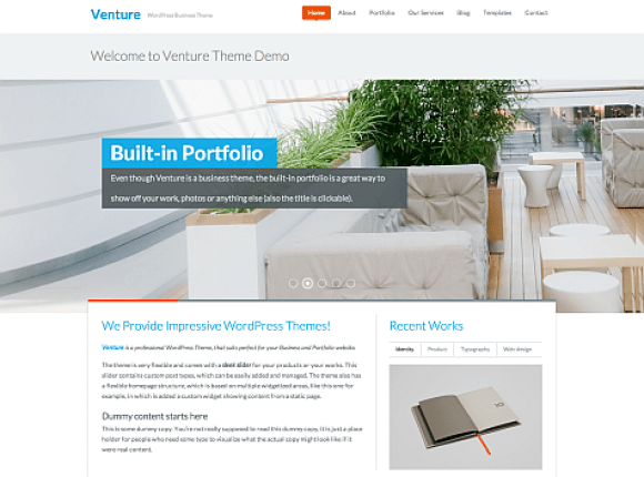 venture-theme-wordpress-premium