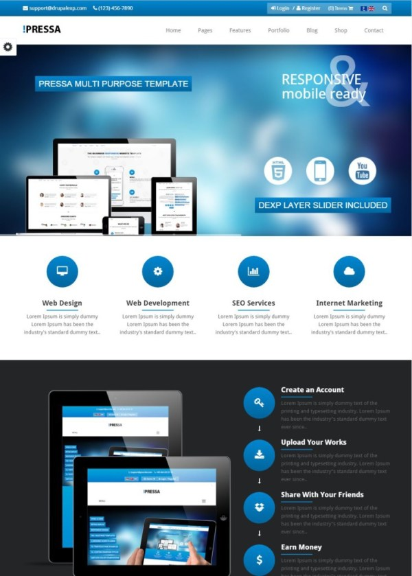pressa-theme-drupal-business-entreprise