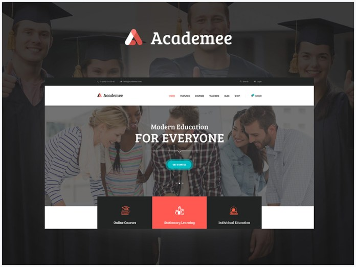 Theme wordpress Academee