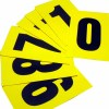 sticky labels to make your own numbered sign