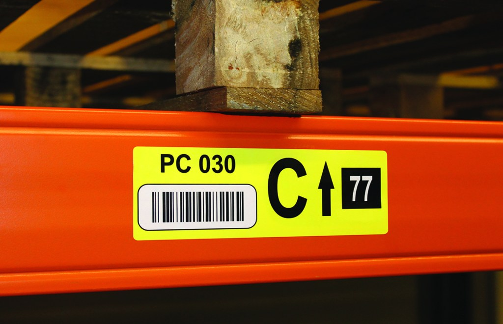 location code label for warehouse labelling solutions
