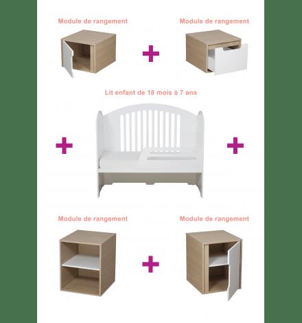 Une chambre enfant totalement modulable