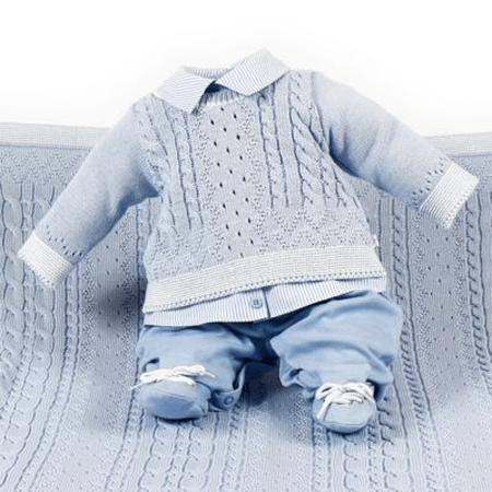 saídas de maternidade menino azul