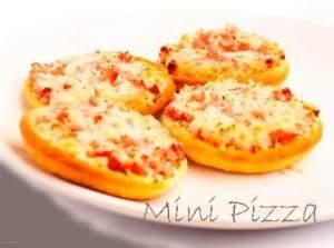 receitas para fazer com os alunos - Mini Pizza de pao