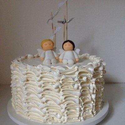 bolo de batizado mais lindo do mundo gemeos