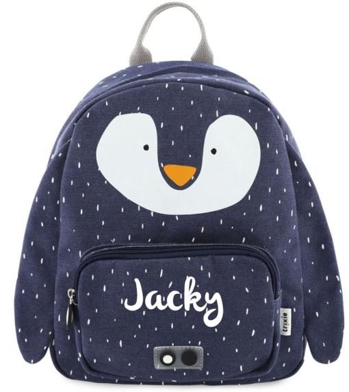 Rugzak pinguin met naam