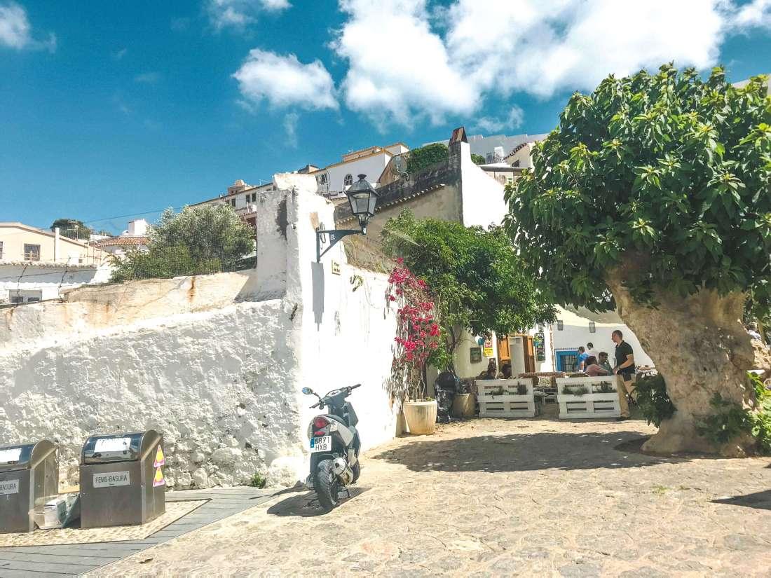 Ibiza center-narrow streets-tradition