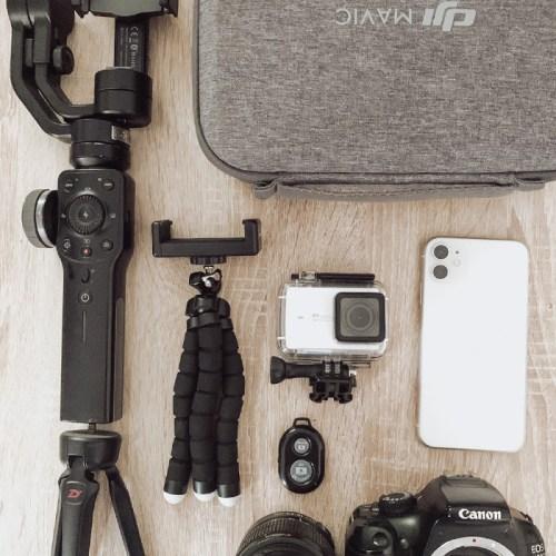attrezzatura fotografica di viaggio travel blogger