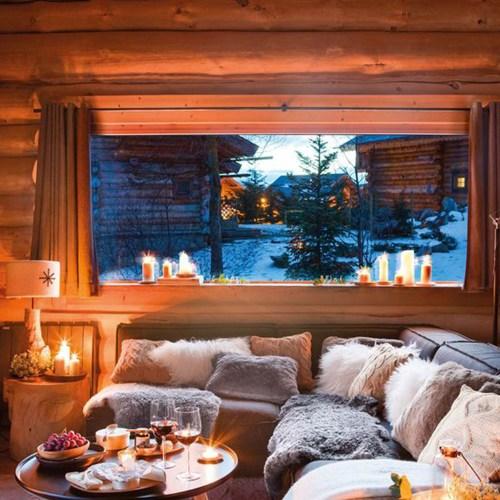 dormire in uno chalet in montagna