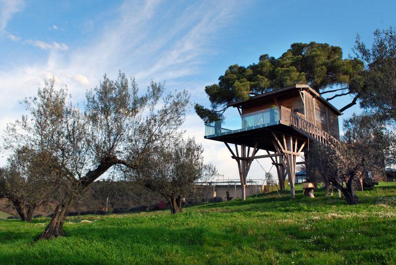 Dormire in una Casa sull'albero lazio