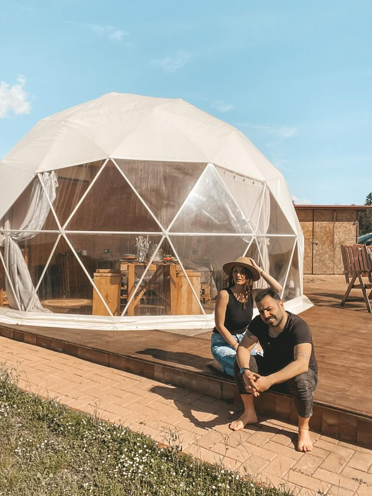 Geodesic dome in Tuscany