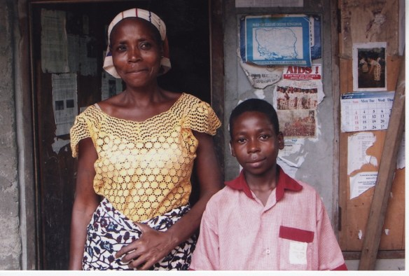 Leadu Sittu, one of our Bodo students, and his proud mother in 2005.