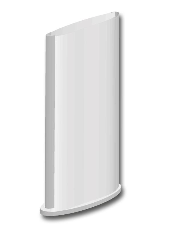 Totem-Bifacciale-Allumio-Ovale-B&B Systems