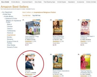 because novel best seller rank #24