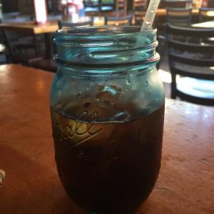 mason jar at pigs eye