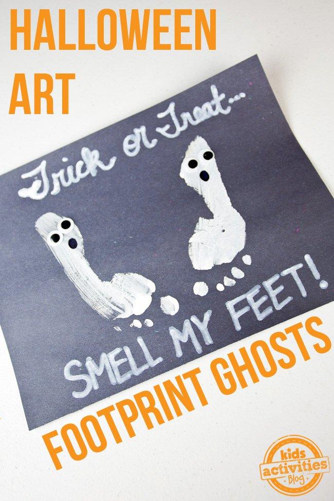 Ghost Footprints Halloween Craft | BecauseImCheap.com