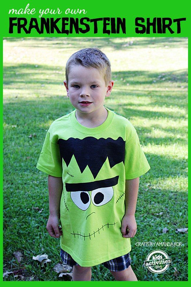 Frankenstein Shirt DIY for Halloween | BecauseImCheap.com