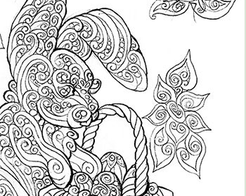 easter bunny adult coloring page