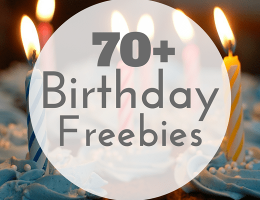 Over 70 Birthday Freebies - The Big List!