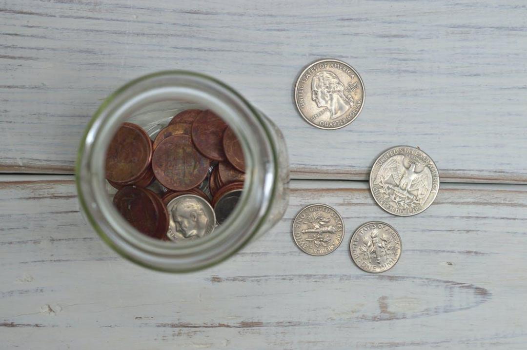 Coins Inside Jar