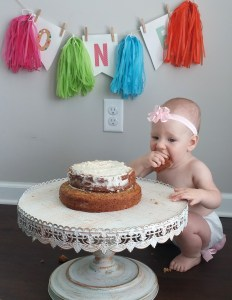 A knockout recipe for baby's 1st birthday healthy smash cake - made healthy!