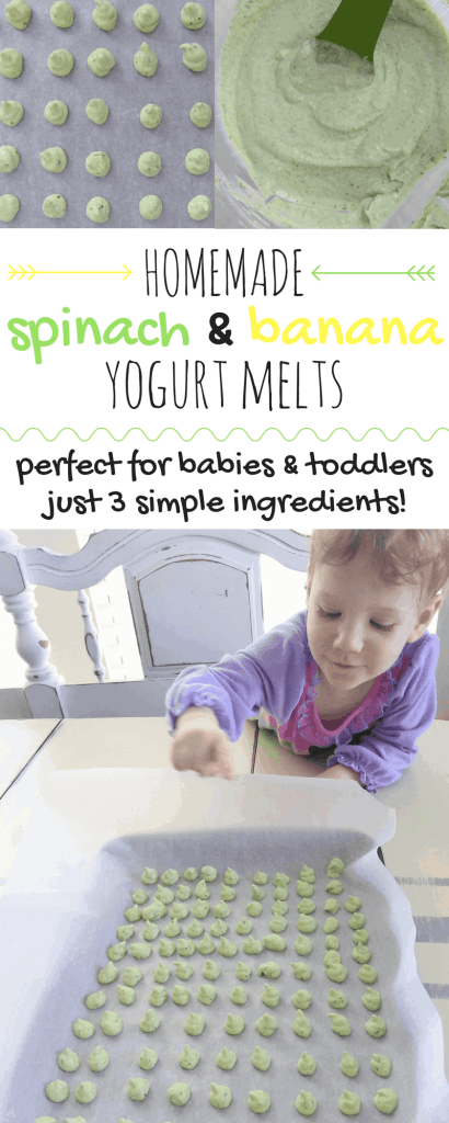 Homemade 3 Ingredient Baby Yogurt Melts | These baby yogurt melts are perfect for babies & toddlers! They are also a great food for baby-led weaning. Made with 3 simple ingredients, no sugar added, and naturally gluten-free!