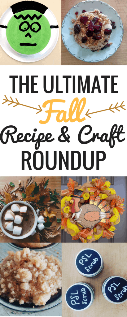 The Fall Recipe & Craft Roundup is everything you need this fall season. Complete with easy toddler crafts, healthy Halloween recipes, and pumpkin spice everything - this roundup has something for everyone.