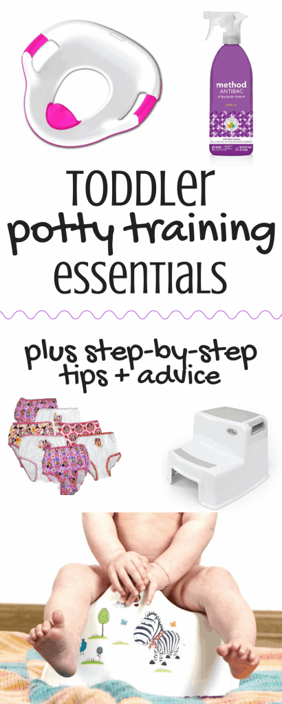 Everything you need to know to get your 2 year old potty trained! Practical tips and potty training advice from a mom whose been there. This post will tell you exactly what you need to do to get the job done!