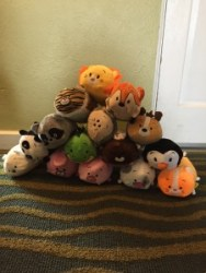 A stack of BunBuns (the generic version of TsumTsums)