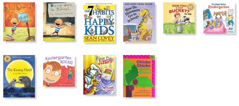 10 Back to School kinder Books