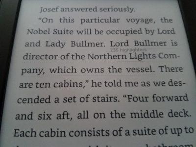 Kindle highlighting example