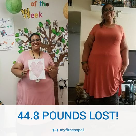 Berls side by side, 44lbs lost