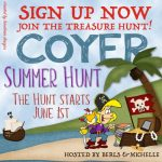Join the Treasure Hunt! #COYER Summer Hunt…. Sign Up Today!