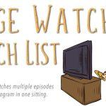 June/July's Watch list. #bingewatchlist – Anime binge