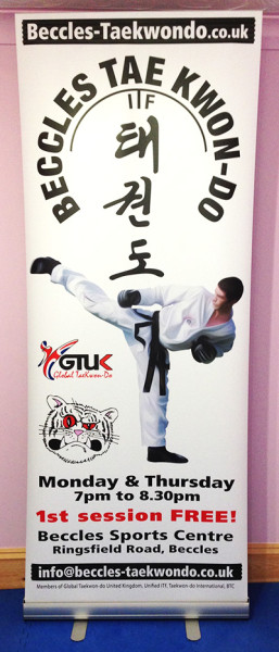 New Banner and Taekwondo Tuition in Beccles Schools
